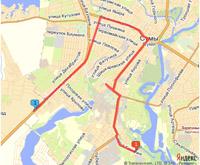 Схема и график движения маршрутных такси в г. Сумы >> oservice.