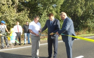Закончен ремонт дороги Сумы - Полтава